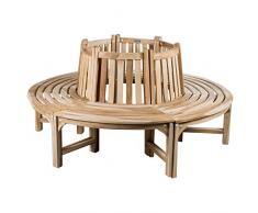 CHICREAT - Panchina circolare per albero, realizzata in legno di teak, circa 180 cm