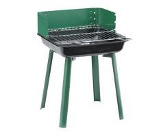 Landmann 11525 Grill Firewood Black,Green barbecue - Barbecues & Grills (Grill, Firewood, 4 person(s), Grate, Black, Green, Rectangular)