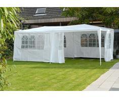 Lifetime Garden Reception 3 x 6 m, 18 m2-6 parrocchetti Laterali: 6 con Finestra da Utilizzare Come Padiglione, pergola, Tenda da Giardino, Gazebo o Gazebo, Colore: Bianco