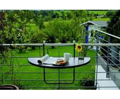Best Butler 36501550 - Tavolino da Appendere al Balcone Tavolo semicircolare, 100 x 50 cm, Colore: Antracite
