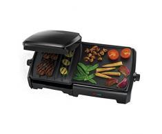 Russell Hobbs 23450-56 Griglia di contatto Da tavolo Elettrico 1800W Nero barbecue e bistecchiera