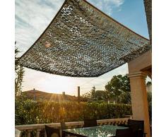 WerkaPro 10105 - Telo ombreggiante traforato, in poliestere, rettangolare, per balcone, terrazza e giardino