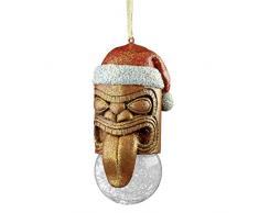 Design Toscano Alberi di Natale - Lono Mascherina di Tiki Holiday Ornament - Tiki decorazioni della statua Hawaii