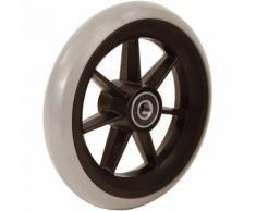 Accessori carrozzina: 06033002 Ruota 5′ in gomma grigia profilo tondo