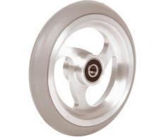 Accessori carrozzina: 06069019 Ruota 4′ cerchio in alluminio gomma nera