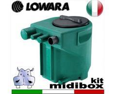 Lowara - Stazione di sollevamento MIDIBOX KIT per acque nere completa di kit raccordi - predisposta per una pompa sommersa con galleggiante integrato