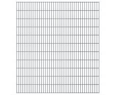 vidaXL Set Pannelli recinzione giardino 2D 2008x2230 mm 6 m grigio