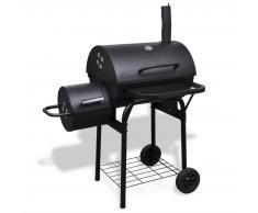 vidaXL Barbecue affumicatore robusto a carbonella