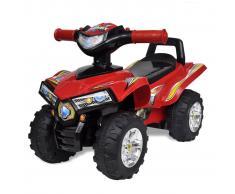 vidaXL Quad per bambini rosso con suoni e luci