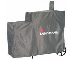 Landmann Copertura per Barbecue Premium L 130x60x120 cm Grigio 15708