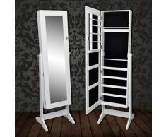 vidaXL Armadietto portagioielli con specchio