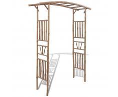 vidaXL Arco per le rose in legno di bambù