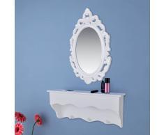 vidaXL Armadietto da parete per chiavi e gioielli con specchio ganci