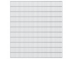 vidaXL Set Pannelli recinzione giardino 2D 2008x2230 mm 42 m grigio