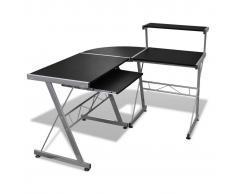 vidaXL Tavolo scrivania per computer postazione di lavoro finitura nera