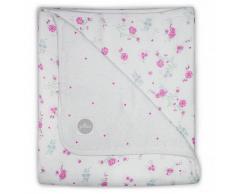 Jollein Coperta per Bambini Mussola con Fiori 120x120 cm Rosa 521-557-65058