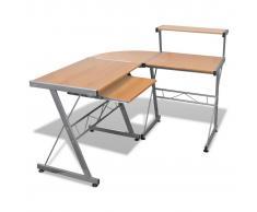 vidaXL Tavolo scrivania per computer postazione di lavoro finitura marrone