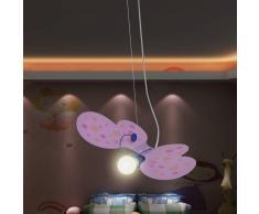 vidaXL Lampada pendente da soffitto per camera dei bambini modello farfalla