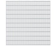 vidaXL Set Pannelli recinzione giardino 2D 2008x2030 mm 44 m grigio
