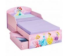 Disney Lettino per Bambini con Cassetti Princess 142x59x77 cm Rosa WORL660018