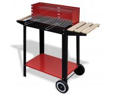 vidaXL Barbecue a carbonella con due ruote