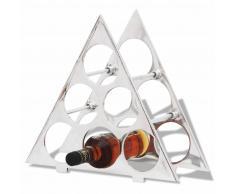 vidaXL Portavini Portabottiglie in alluminio per 6 bottiglie colore argento