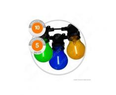 Catena Party 10 Lampadine LED Bulb A60 Filament Multicolor - per Interno e Esterno
