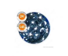 Catena 24 Luci LED Reflex Bianco Freddo a Batterie con Controller Memory - per Interno e Esterno