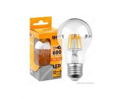 Bot Lighting Shot Lampadina LED E27 7,5W Bulb A60 Filamento Calotta Cromata