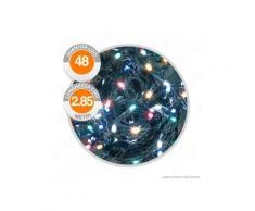 Catena 48 Luci LED Reflex Multicolore a Batterie con Controller Memory - per Interno e Esterno