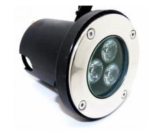 Faretto LED 3W Luce Fredda e Calda calpestabile da incasso da esterno 3x1w