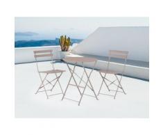 Set da balcone girigio - Tavolo tondo con due sedie - FIORI