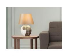Lampada - Da tavolo - Da comodino - Colore beige/rame - ESLA