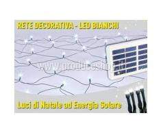 Rete luci di Natale esterno decorativa 50 led energia solare batteria lunga durata pannello