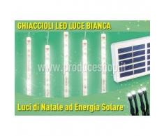 Luci di Natale esterno led energia solare batteria lunga durata pannello 4 ghiaccioli