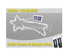Stella cometa 50 LED energia solare esterno albero Natale batteria lunga durata pannello