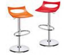 Arredamento bar - Sgabello diavoletto - mod. 22diav - struttura in acciaio cromato - sedile in polipropilene riciclabile - sgabello girevole regolabile in altezza con pistone a gas - per uso interno - quantita' minima acquistabile n. 1 - dim. cm l 44