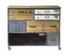 Cassettone a rotelle in metallo L 120 cm Lazare