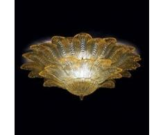 7432515028003Lisa - Plafoniera Sogni di Cristallo Colore : ambra - Seleziona il numero di Luci : 5 - Dimensioni : Diametro 70 x Altezza 30 cm - In Vetro di Murano