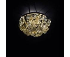 7432515825817Fiori di loto - plafoniera Sogni di Cristallo Colore : bianco - Seleziona il numero di Luci : 3 - Dimensioni : Diametro 55 x Altezza 30 cm - In Vetro di Murano