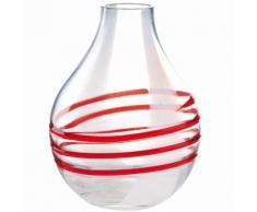 Guzzini Vaso Piccolo Tropea in vetro rosso