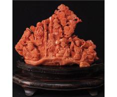 Scultura Buddista in Corallo Rosso