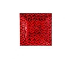 Set di 12 sottopiatti pixelizzato Rosso