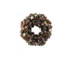 Corona di Natale decorata Stella