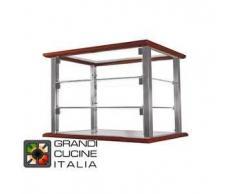 GrandiCucineItalia.it - Attrezzature per ristorazione - Vetrina Neutra da Appoggio - 3 Ripiani - Colore Ciliegio - Larghezza 520 mm - Cod. VN54P3 - Hot Class