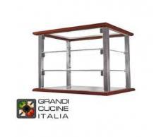 GrandiCucineItalia.it - Attrezzature per ristorazione - Vetrina Neutra da Appoggio - 3 Ripiani - Colore Ciliegio - Larghezza 1070 mm - Cod. VN107P3 - Hot Class