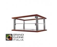 GrandiCucineItalia.it - Attrezzature per ristorazione - Vetrina Neutra da Appoggio - 2 Ripiani - Colore Ciliegio - Larghezza 520 mm - Cod. VN54P2 - Hot Class