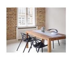 Sedia nera - Sedia in plastica - Sedia da giardino di design - Sedia da pranzo - BEND
