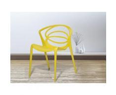 Sedia gialla - Sedia in plastica - Sedia da giardino di design - Sedia da pranzo - BEND
