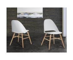 Sedia bianca - Sedia da giardino - Sedia in plastica - Sedia da pranzo di design - MILFORD